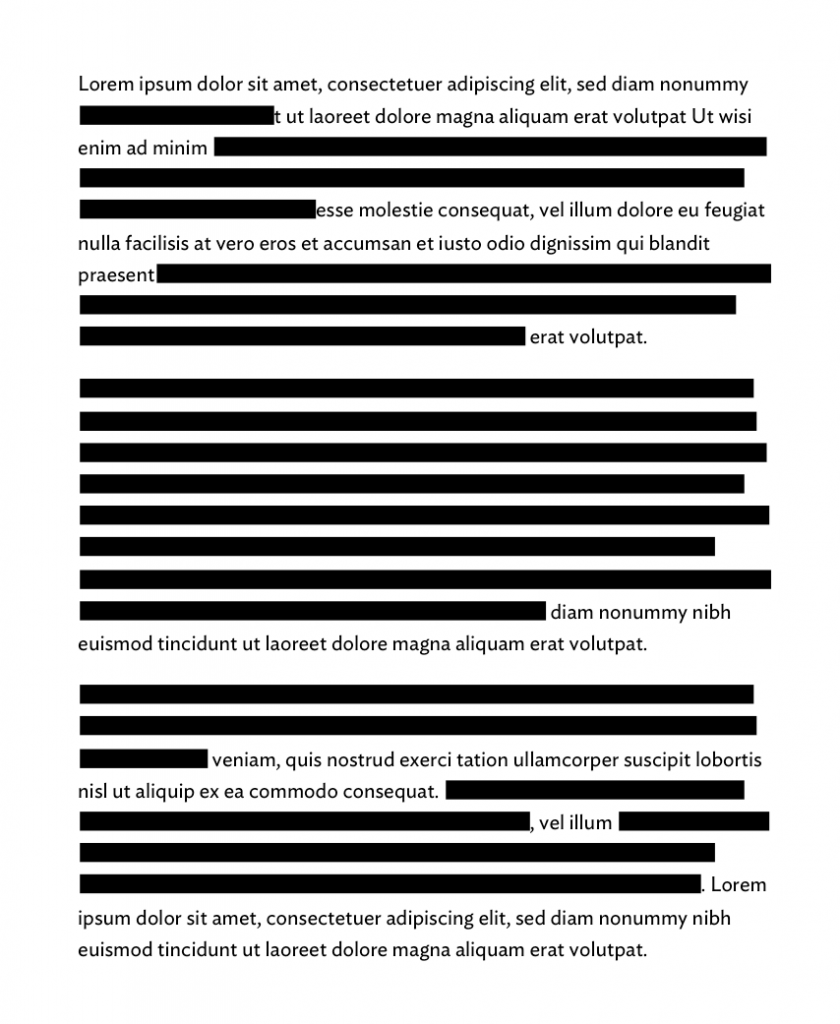 illustration of a redacted document